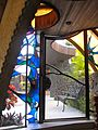 Onion House Hawaii pool door and stained glass.jpg