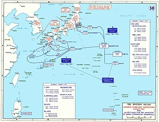 codename for the Allied plan for the invasion of Japan near the end of World War II