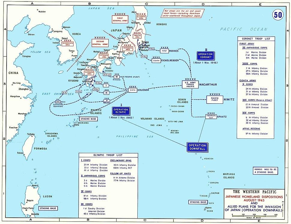 Operation Downfall - Map