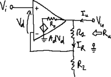 Operational amplifier with non-ideal output resistance.png