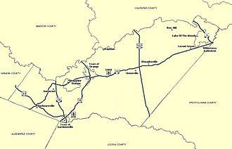 Orange County, Virginia - A Map of Orange County, VA