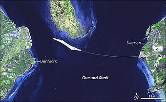 Oresund connection from space