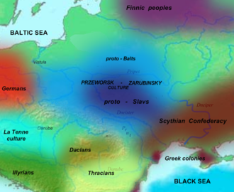 Przeworsk culture - Przeworsk and other related  archeological cultures around the year 300 BC.
