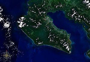 Osa Peninsula - Osa Peninsula seen from space