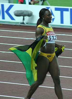 2000 World Junior Championships in Athletics - Veronica Campbell won a sprint double for Jamaica.
