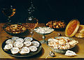 Osias Beert the Elder - Dishes with Oysters, Fruit, and Wine - Google Art Project.jpg