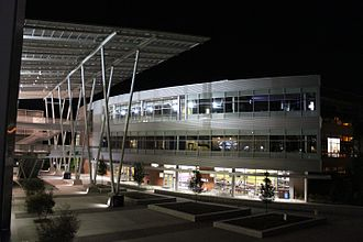 University of North Florida - Osprey Plaza at the Student Union at night