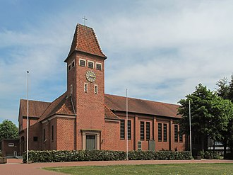 Geeste, Emsland - Osterbrock, church: Sankt Isidorkirche