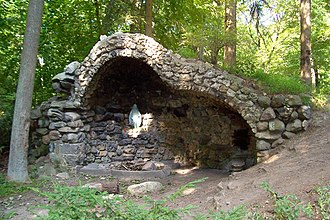 Saint Francis de Sales Seminary - Our Lady of Lourdes Grotto
