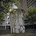 Overzicht van Sylvette, gezandstraald beeld, een betonnen tekening, beeld van Picasso - Rotterdam - 20398946 - RCE.jpg