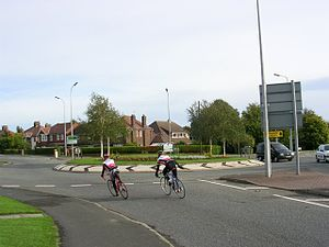 A49 road - Owens Corner south of Warrington