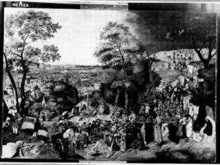Landschap met kruisdraging