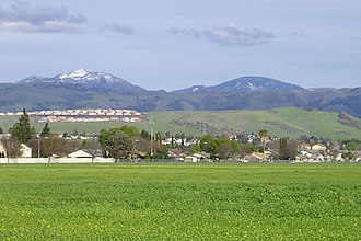 Mount Hamilton (California) - Numerous times each winter temperatures drop low enough for Mount Hamilton (left) to receive as much as a foot of snow for a day or two.