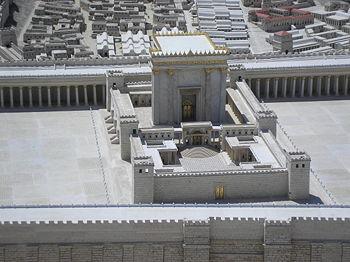 Le Temple reconstruit par Hérode en -19 (Ier sièce avant JC) il est détruit en 70 par les Romains (Ier siècle après JC)