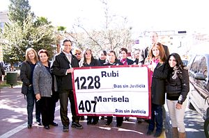 Feminism in Mexico - Members of the Women's Human Rights Centre in Ciudad Chihuahua, Mexico call for justice for the murders of Rubi and Marisela.