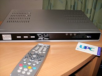 UPC Nederland - A Pace set-top box with a UPC smart card and remote, used by UPC Nederland.