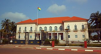 Guinea-Bissau - The Presidential Palace of Guinea-Bissau.