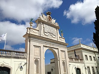 Seteais Palace - The triumphal arch erected in honor of the 1802 visit of King João VI of Portugal and Queen Carlota Joaquina of Spain to Seteais Palace.