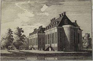 Oranjewoud - Oranjewoud Palace in 1765