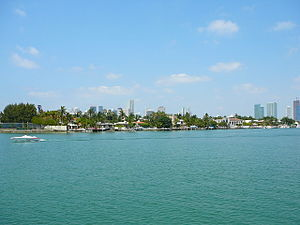 Palm Island (Miami Beach) - Image: Palm Island from Hibiscus Island