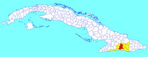 Palma Soriano - Image: Palma Soriano (Cuban municipal map)