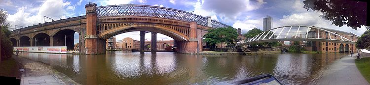 A Panorama Of Castlefield Over The Bridgewater Canal