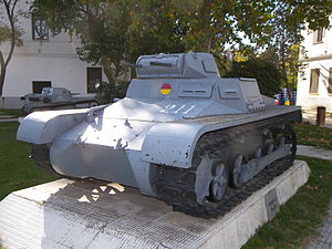 Panzer I - Panzer I Ausf A at El Goloso Museum of Armored Vehicles, in Spain. Notice the tracks and drive sprockets are M113 APC's parts.