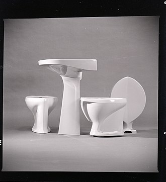 Ideal Standard - Ceramic sanitary ware designed by Gio Ponti for Ideal Standard, 1954 ca. Photo by Paolo Monti.