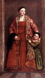 Paolo Veronese - Livia da Porto Thiene and her Daughter Porzia - WGA24979.jpg
