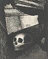 Par la fente du mur, une tête de mort fut projetée by Odilon Redon Van Gogh Museum p2751-005N2012.jpg