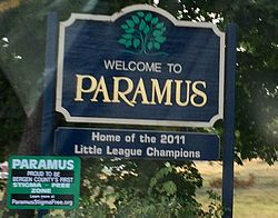 Welcome to Paramus sign