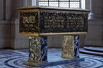 Hubert Lyautey - The sarcophagus of Marshal Lyautey at Les Invalides, Paris