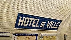 Hôtel de Ville (Métro Paris)