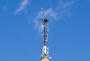 Pasilan linkkitorni - Close-up of the FM antenna mast