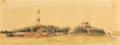 Paso Pucú. Cuartel general del tirano López. Espaldón para resguardarse del fuego del Ejército aliado -- copiado del natural.png