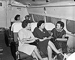 Passengers inside the cabin of a flying boat (23551477056).jpg