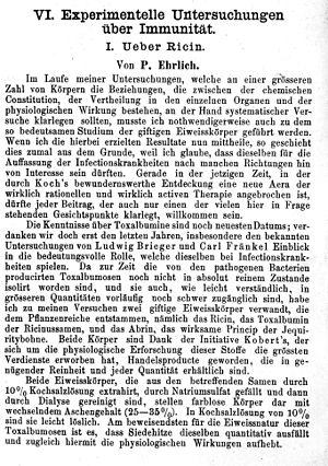 Paul Ehrlich, 'Experimentelle Untersuchungen'. Wellcome M0013390.jpg