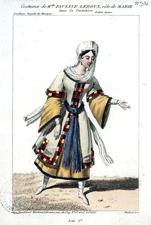 La tentation - Image: Pauline Leroux as Marie in 'La tentation' Maleuvre Gallica
