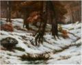 Paysage de neige avec arbres et rochers.png