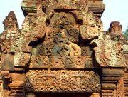 Exterior del templo de Banteay Srei
