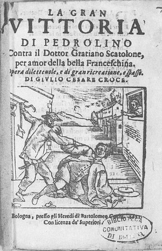 Pedrolino - Pedrolino scuffles with the Doctor, 1621.