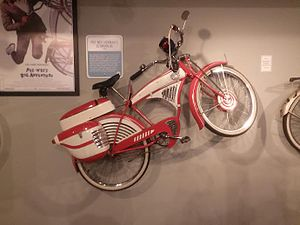 Pee-wee's Big Adventure - One of the prop bicycles used in Pee-wee's Big Adventure on display in the Bicycle exhibit at the Carnegie Science Center