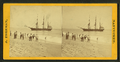People on the shore looking at a ship, by Freeman, J. (Josiah) 2.png
