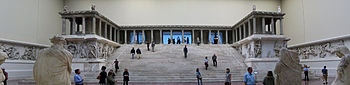 The Pergamon Altar in the Pergamonmuseum in Berlin