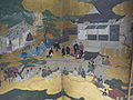 Periodo azuchi-momoyama, visita imperiale a ohara, paravento di hasegawa kyuzu, XVI sec, 05.JPG