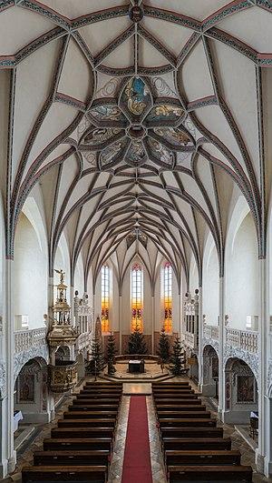 Interior of the parish church Pernegg, Lower Austria