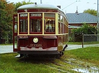 Toronto streetcar system loops - Peter Witt car at Kipling