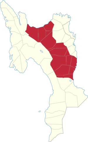 Legislative districts of Leyte - Map of the current 2nd District of Leyte