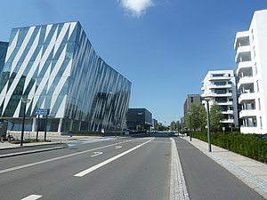 Tuborg Havn - The Saxo Bank Building seen from Philip Heymans Alle