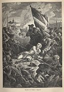 Philippoteaux Death of Count Plelo on Westerplatte 1734.jpg